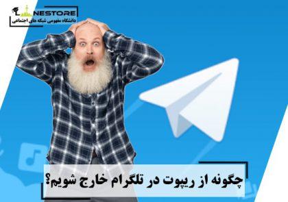 چگونه از ریپوت در تلگرام خارج شویم؟