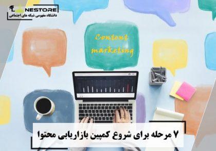 7 مرحله برای شروع کمپین بازاریابی محتوا